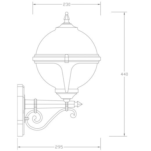 Mystic Traditional White Globe Wall Light with Photocell