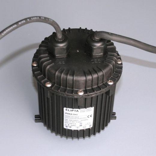 Ground burial transformer, Black, 12 v ac, 50va, IP68