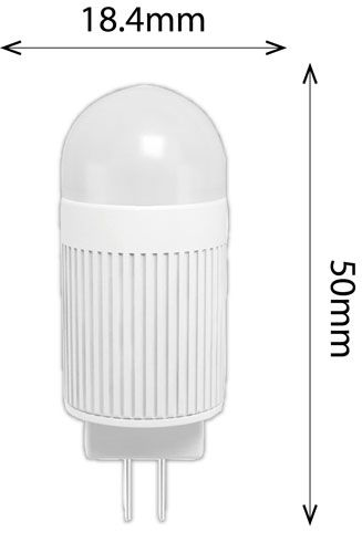 2.4w G4 180lm 2700k non dimmable