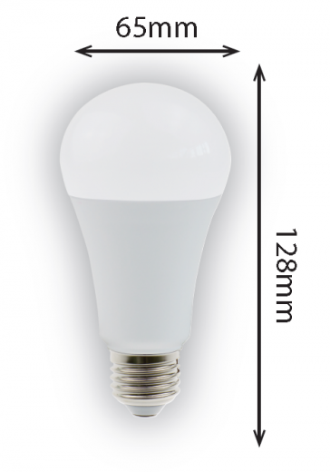 15w Globe E27 1521 lumens opal finish non dimmable