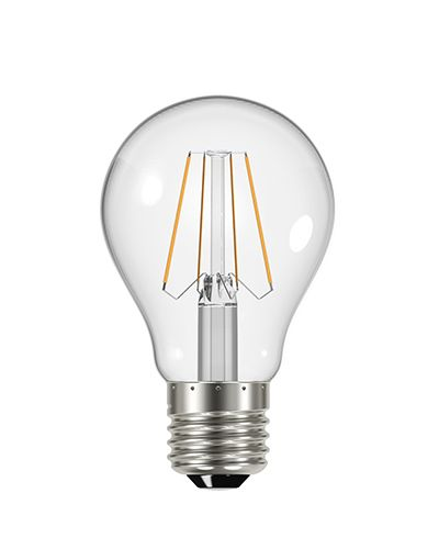4.4w GLS Filament clear glass E27 470 lumens dimmable 2700k