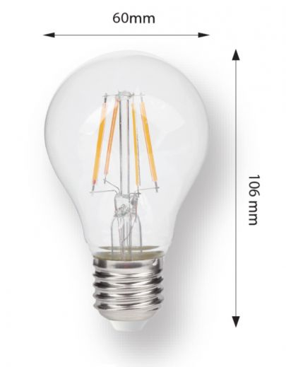 7w Dimmable 2700k 806 lumen GLS Filament  E27 LED bulb