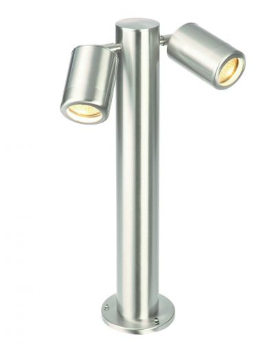 Atlantis - 316 Stainless Steel IP65 240v 2 x GU10 Max 2 x 7w 280mm Height - Surface Mounted Bollard - In 2 Heights