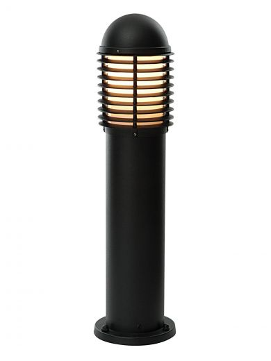 Louvre - Black - IP44 240v E27 Max 60w 650mm Height - Surface Mounted Bollard - In 2 Heights