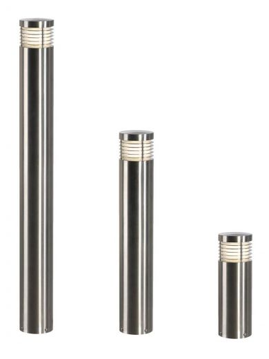 VAP Slim 30 - 304 Stainless Steel IP44 230v E27 20w Max LED 30cm Tall - Surface Or Spiked Bollard- Choice Of 3 Heights