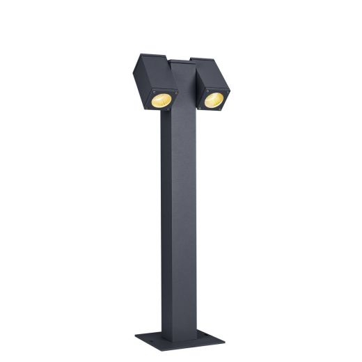 Theo Twin Headed - Anthracite IP44 2 x Max 7w GU10 240v - Surface Mounted Path Light