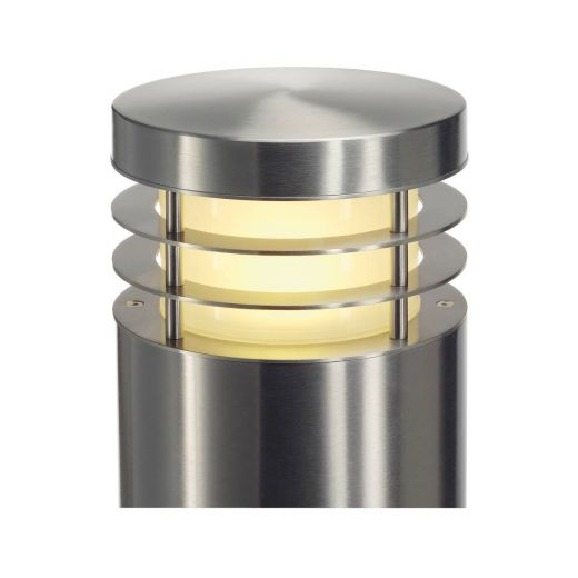 VAP 100 - 304 Stainless Steel IP44 230v E27 23w Max LED 1m Tall - Surface Mounted Bollard- Choice Of 3 Heights