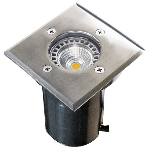 Cubik - 240v - 304 Stainless Steel GU10 IP67 Fixed Recessed Spotlight 100mm Or 120mm Bezel - Clear Or Frosted Lens