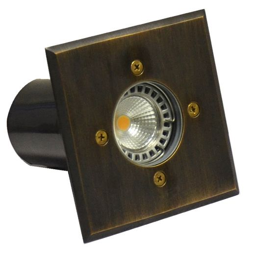 Cubik - 240v - Rustic Bronze Brass GU10 IP67 Fixed Recessed Spotlight 100mm or 120mm Bezel - Clear Or Frosted Lens