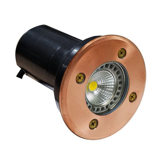 Decimax - 240v - Natural Copper GU10 IP67 Fixed Recessed Spotlight 100mm Bezel - Choice Of Clear Or Frosted Lens