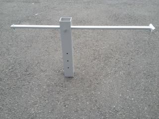Land Bracket for use with LED sign lights to down-light only