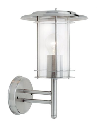 York - 240v - 304 Stainless Steel IP44 E27 Max 60w Wall Light