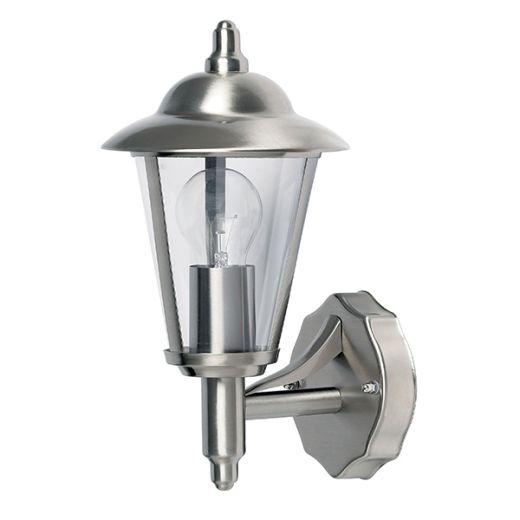 Klien - 240v - Polished Stainless Steel IP44 E27 Max 60w Wall Light - Lantern Light