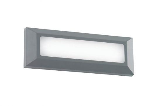 Severus landscape direct IP65 3W warm white wall - Grey ABS Plastic 220- 240v