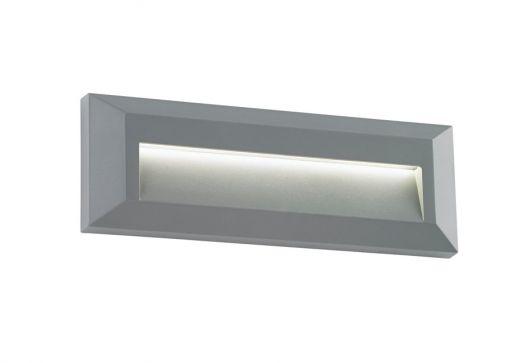 Severus landscape indirect IP65 2W warm white wall - Grey ABS Plastic - 220 - 240v