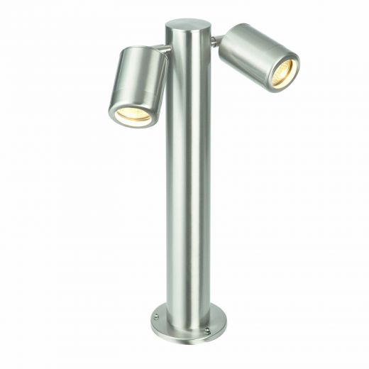 Atlantis - 316 Stainless Steel IP65 240v 2 x GU10 Max 2 x 7w 450mm Height - Surface Mounted Bollard - In 2 Heights