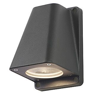 Wallyx - 240v - Anthracite Powder Coated Aluminium IP44 GU10 - Fixed Down Light Wall Light - Choice Of 3 Colours