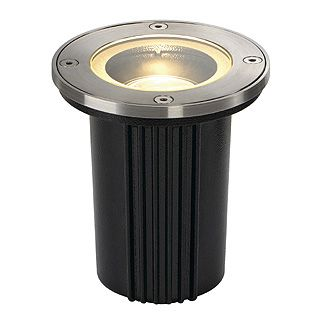 Dasar Exact - 230v GU10 - 316 Stainless Steel Bezel Aluminium Body IP67 30 Degree Tilt Round Recessed Spotlight