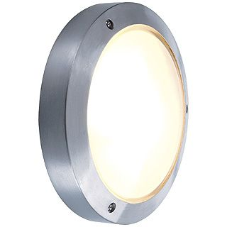 Bulan - 240v - Grey Powder Coated Aluminium IP44 E14 x Max Wattage 60w Amenity Light - Wall Light