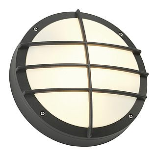 Bulan Grid - 240v - Anthracite Powder Coated Aluminium IP44 E27 2 x Max Wattage 25w Amenity Light - Wall Light