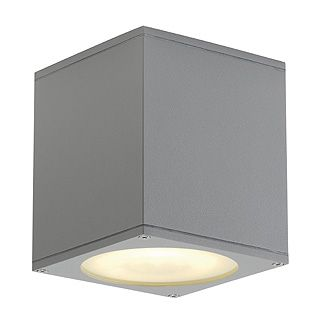 Big Theo - 240v Grey Aluminium & Glass Max 75w QPAR111 GU10 IP44 Surface Ceiling Light - Choice Of 3 Colours