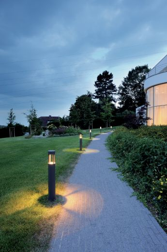 Slots 65 - Anthracite IP44 6.3w 3000k 230v 200 Lumens 665mm Tall - Surface Bollard - Choice Of 2 Heights & 2 Colours
