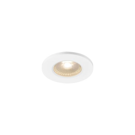 Kamuela Eco - Fixed Round White 240v IP65 6.5w 3000k 400 Lumens 38 Degree Beam Angle Recessed Soffit Light