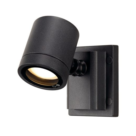 Myra 240v - Anthracite Powder Coated Aluminium IP55 GU10 - Adjustable Spot Wall Light- Choice Of 2 Colours