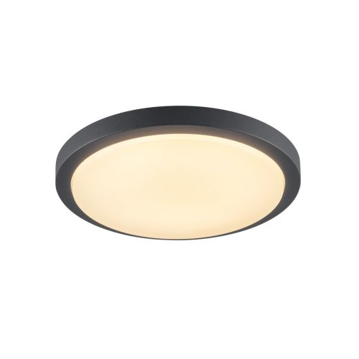 Ainos LED Microwave - 240v Anthracite Polycarbonate 22w 3000k 1430 Lumens IP44 Security Light - Choice Of 2 Colours