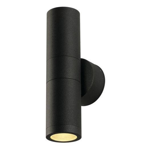 Astina - 240v - Anthracite Powder Coated Aluminium GU10 IP44 Slimline Up/Down Wall Light - Choice Of 2 Colours