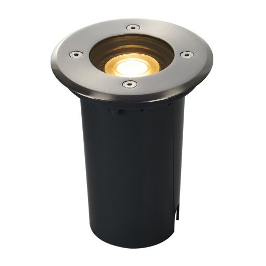 Solasto - 230v GU10 - 304 Stainless Steel IP67 Fixed Round Recessed Spotlight Also Available With Square Bezel