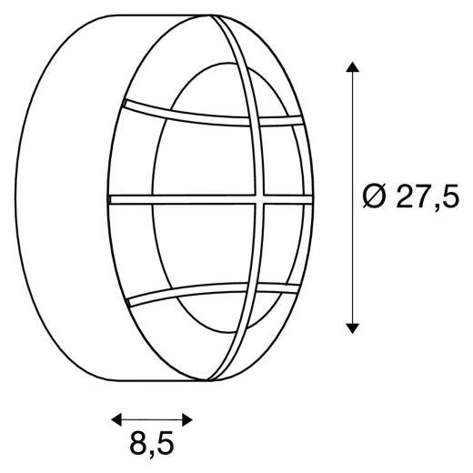 Bulan Grid - 240v - White Powder Coated Aluminium IP44 E27 2 x Max Wattage 25w Amenity Light - Wall Light