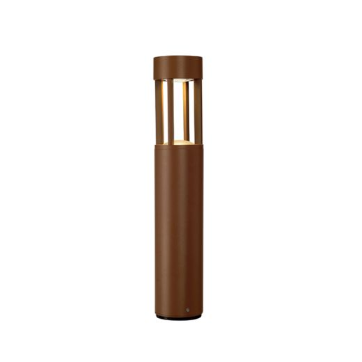 Slots 45 - Rust IP44 6.3w 3000k 230v 200 Lumens 465mm Tall - Surface Bollard - Choice Of 2 Heights & 2 Colours