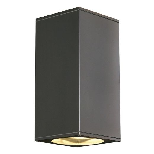 Big Theo - 240v -Anthracite Powder Coated Aluminium GU10 QPAR111 - IP44 Up/Down Wall Light - In 3 Colours