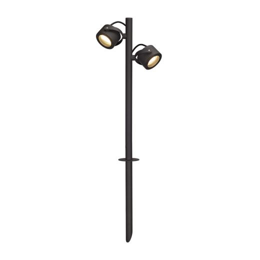 Sitra 360 SL Spike IP44 240v GX53 Anthracite Finish Twin Headed Spiked Path Light