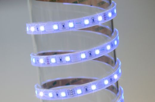 14.4w/m RGB LED Strip with 60 LEDs per metre IP65 24v 120 degree beam angle in 5m lengths 5mm depth