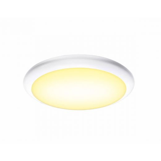 Ruba 10 LED Microwave - 240v White Polycarbonate 13w 3000k/4000k 1050 Lumens IP65 Security Light - Choice Of 3 Sizes