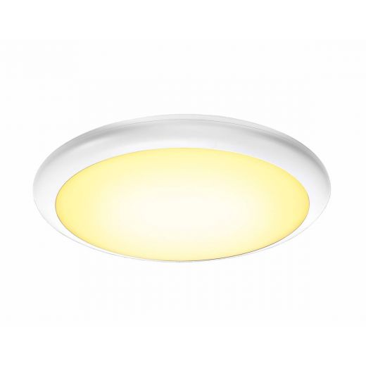 Ruba 20 LED Microwave - 240v White Polycarbonate 27w 3000k/4000k 2500 Lumens IP65 Security Light - Choice Of 3 Sizes
