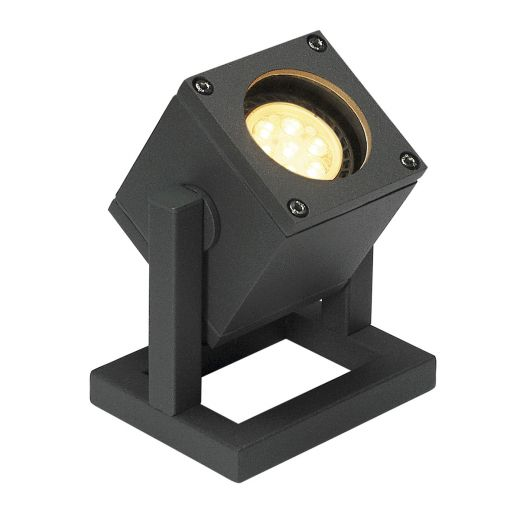 Cubix - Anthracite GU10 240v Max 25w IP44 - Surface Ground Light Available In Choice Of 2 Colours
