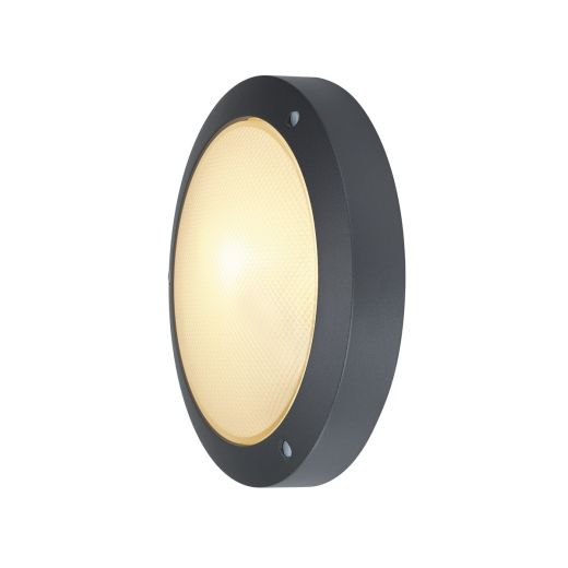 Bulan - 240v - Anthracite Powder Coated Aluminium IP44 E14 x Max Wattage 60w Amenity Light - Wall Light