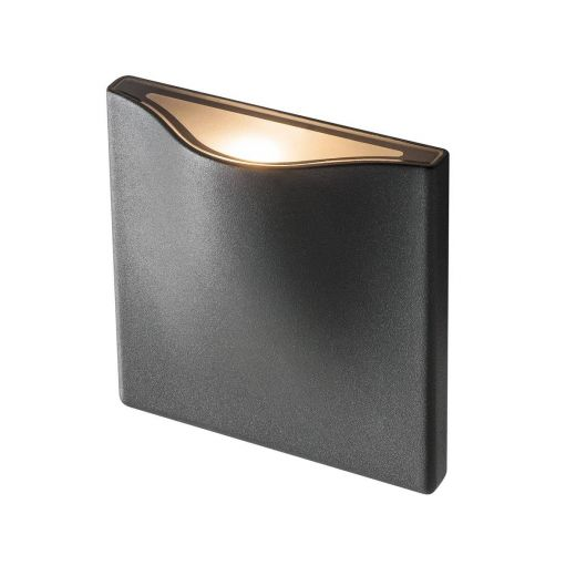 Vilua S - 240v IP54 - Recessed Anthracite Aluminium Up or Down Light 3000k 8.3w 405 lm