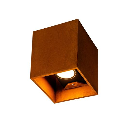Rusty - Up/Down Square 240v - IP65 Rusty FeCSI Stainless Steel 3000/4000k 14w 260 lm up/288 lm down