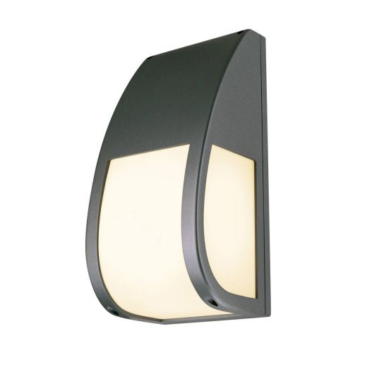 Keras - 240v - Anthracite Powder Coated Aluminium IP54 E27 Max 25w Wall Light