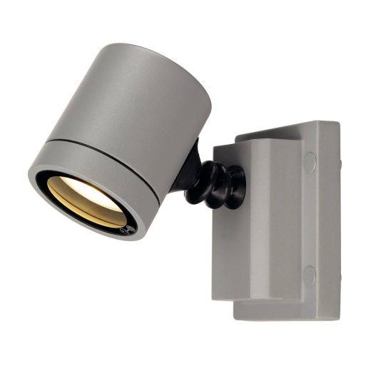 Myra 240v - Grey Powder Coated Aluminium IP55 GU10 - Adjustable Spot Wall Light - Choice Of 2 Colours