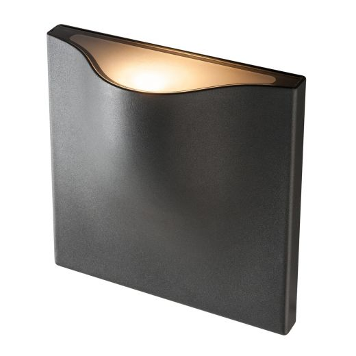 Vilua L - 240v IP54 - Recessed Anthracite Aluminium Up or Down Light 3000k 16w 810 lm