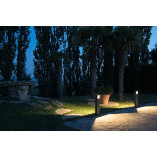 Logs - Anthracite IP44 8w 3000k 420 Lumens 100 - 240v 70cm Height - Path Light - 2 Height Choices