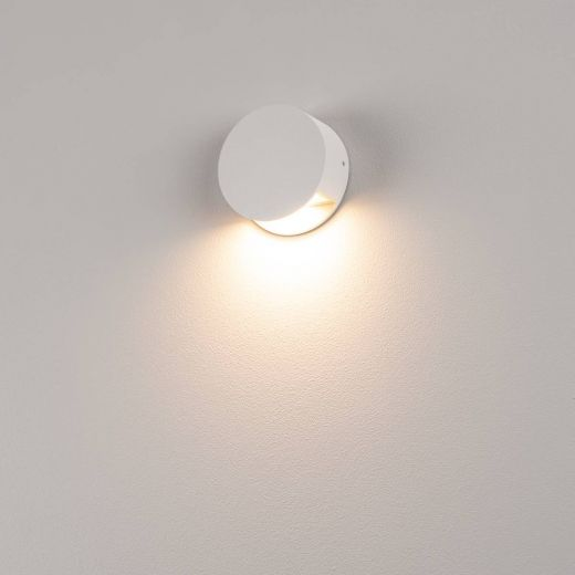 Pema LED Wall Light, 240v White Surface LED Light, Mains 4.7w, 3,000k, 125 lumens, IP44