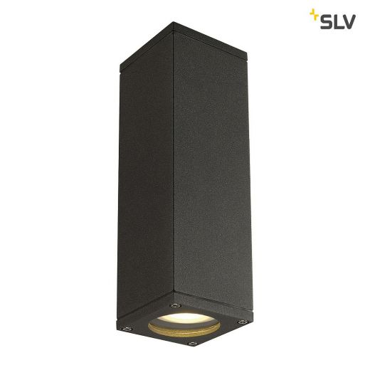 Theo - 240v - Anthracite Powder Coated Aluminium GU10 IP44 Up/Down Wall Light - In 3 Colours
