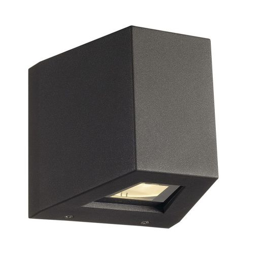 Out Beam - 240v - Anthracite Powder Coated Aluminium 18w 3000k 740 Lumens IP44 Up/Down Wall Light- Choice of 2 Colours