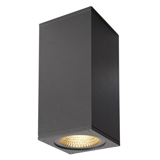 Big Theo - 240v - Anthracite Powder Coated Aluminium 42w 3000k 4000 Lumens IP44 Up/Down Wall Light